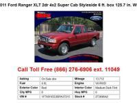 2011 Ford Ranger Black XLT 2dr 4x2 Super Cab Styleside