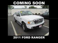 Clean CARFAX. Oxford White 2011 Ford Ranger XLT
