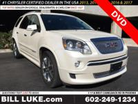 Options:  2011 Gmc Acadia Denali|White|Dvd!!! Moon