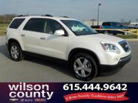 2011 GMC Acadia SLT-1 3.6L V6 SIDI White Diamond