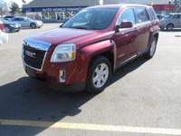 This 2011 GMC Terrain is a midsize crossover SUV
