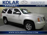 Yukon SLT, 4WD, White, Clean Auto Check History Report,