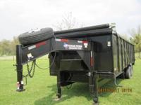 2011 Goose Neck Dump Trailer NEW SETTING IN Barn 8' x