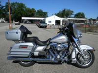 Learn more about this bike with its Harley saddlebags