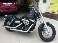 2011 Harley Street Bob. Denim black in color. Very low
