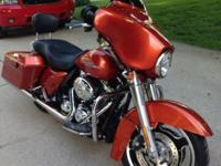 2011 Street Glide, 4500 miles, completely serviced, LED