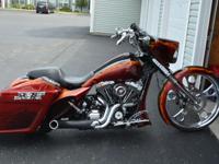 2011 Street Glide Custom Bagger..This bike is flawless