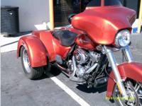 Trike Motorcycle, Sedona Orange, Twin Cam 103