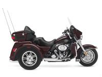 The Harley Tri Glide fairing is a nice comfort feature