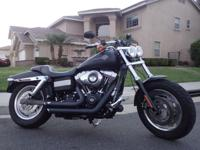 This Harley Davidson Dyna Fat Bob features Fat 16""
