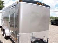 7x14 Tandem Axle Enclosed Trailer 2011 Haul-It 7x14
