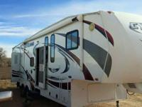 2011 Heartland Cyclone Toyhauler. This 5th wheel comes