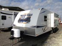 A 30'5 Travel trailer with 1 slide-out and a power