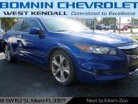 Options:  2011 Honda Accord Ex-L Belize Blue Pearl 2011