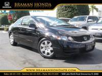 Civic LX Honda Certified 2D Coupe 1.8L I4 SOHC 16V