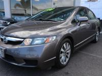Clean CARFAX. Polished Metal Metallic 2011 Honda Civic
