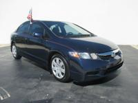 Blue 2011 Honda Civic LX  All New MAZDA of PALM BEACH.