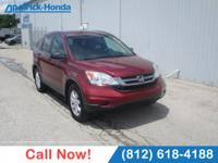 CARFAX One-Owner. Clean CARFAX. Red 2011 Honda CR-V SE