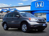 Clean CARFAX. 2011 Honda CR-V LX AWD 5-Speed Automatic