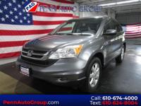 Clean CARFAX. Grey 2011 Honda CR-V SE AWD 5-Speed