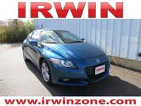 CR-Z EX, 2D Coupe, 1.5L I4 SOHC i-VTEC 16V, and 6-Speed