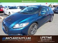 Options:  2011 Honda Cr-Z Ex|North Shore Blue