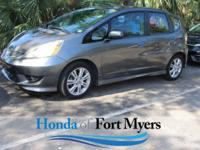 CARFAX One-Owner. Clean CARFAX. Gray 2011 Honda Fit