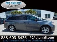CARFAX One-Owner. Gray 2011 Honda Odyssey Touring Elite