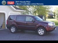 CERTIFIED 2011 Honda Pilot LX Comes with a full Vehicle