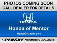 Honda Certified, CARFAX 1-Owner. EX trim. 3rd Row Seat,