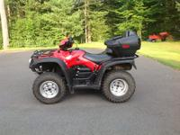 This is a 2011 Honda rubicon 500 atv. It includes 4x4,
