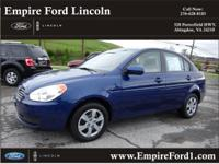 Options:  2011 Hyundai Accent Gls|Gls 4Dr Sedan|1.6L|4