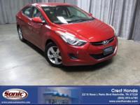 Delivers 38 Highway MPG and 28 City MPG! This Hyundai