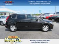 This 2011 Hyundai Elantra Touring GLS in Black Noir
