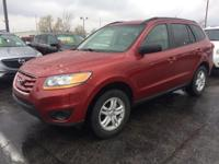 2011 Hyundai Santa Fe GLS in Sonoran Red with Beige