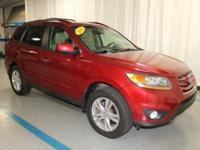 2011 Hyundai Santa Fe Limited in Red... 3.5L V6 DOHC
