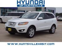 Frost White Pearl 2011 Hyundai Santa Fe Limited ** $0