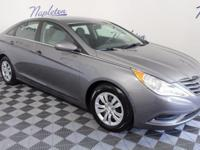 2011 Hyundai Sonata Gray CARFAX One-Owner. Cloth.