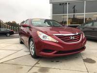 Red 2011 Hyundai Sonata GLS FWD 6-Speed Automatic with