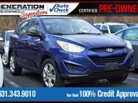 New Price! Iris Blue 2011 Hyundai Tucson GL FWD 6-Speed