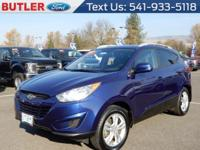 This Hyundai Tucson has a L4, 2.4L high output engine.