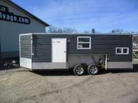 Up for auction is a 2011 Ice Castle 8x 20 Fish house,