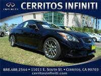 1 OWNER, INFINITI CERTIFIED 2011 IPL G37 COUPE! This