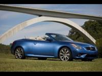 2011 INFINITI G37 CONVERTIBLE Coupe Our Location is:
