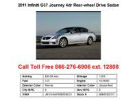 2011 Infiniti G37 Journey 4dr Rear-wheel Drive Sedan