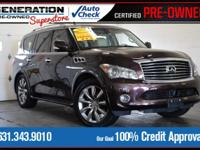 Black Obsidian 2011 INFINITI QX56 4WD 7-Speed Automatic