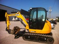 2011 JCB 8040 SIEVERS-AUBURN 228 HRS CAB W/ HEAT AND