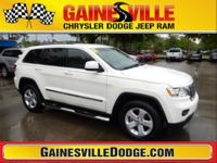 White 2011 Jeep Grand Cherokee Laredo 3.6L V6 Flex Fuel