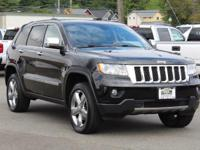 Clean CARFAX. Black 2011 Jeep Grand Cherokee Overland