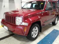 Clean CARFAX. Red 2011 Jeep Liberty Sport 4WD 4-Speed